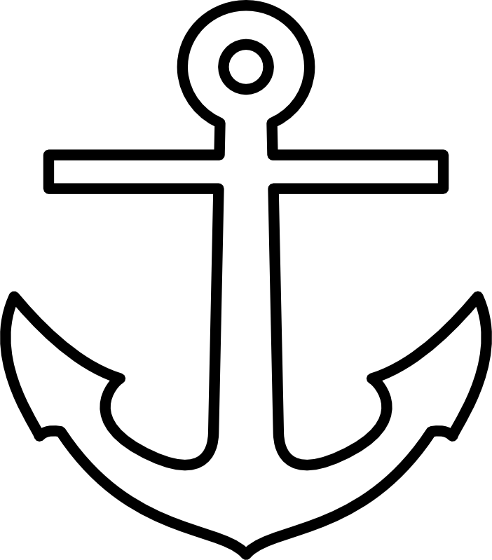 702x799 Simple Anchor Clipart