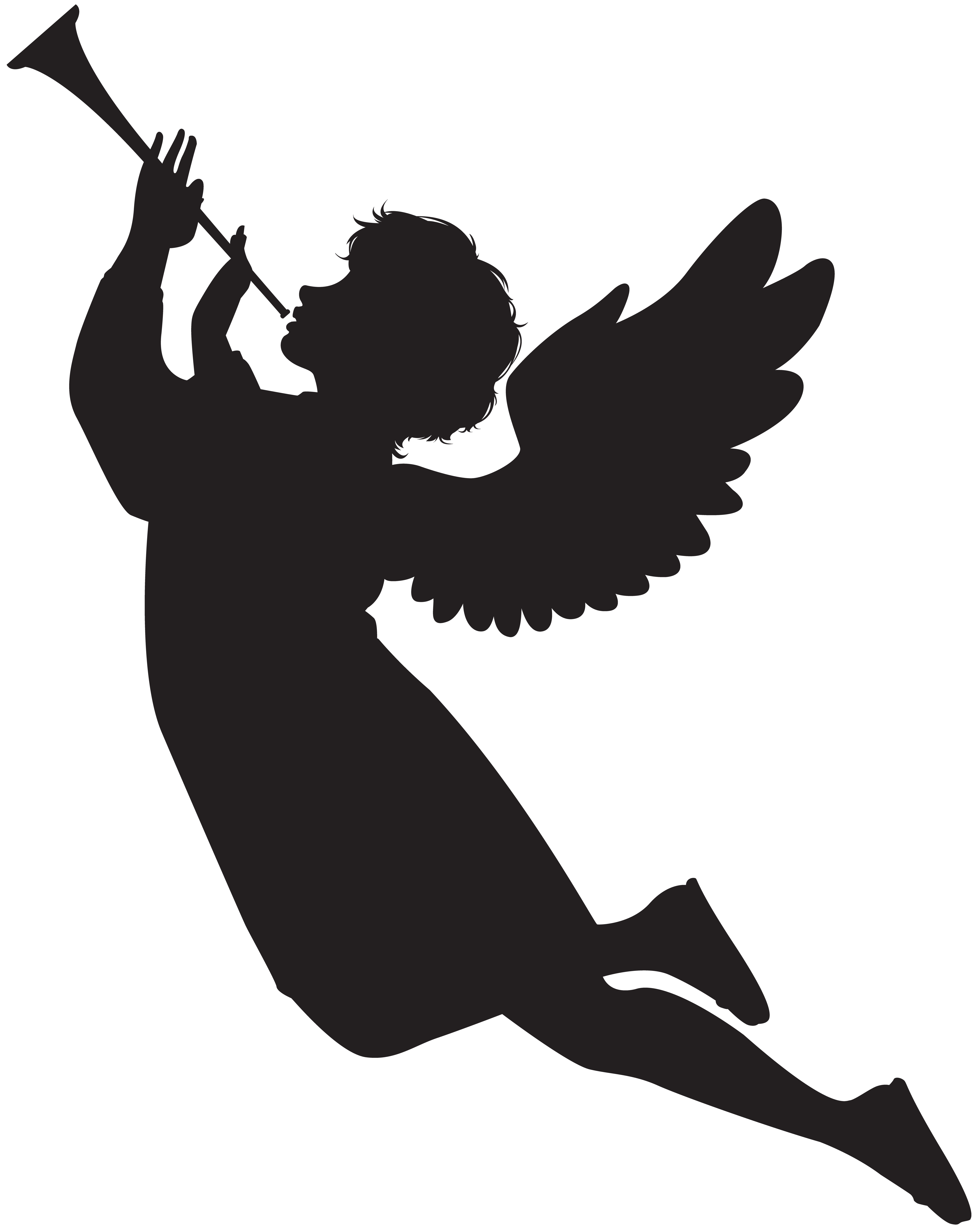 5581x7000 Angel Clipart Silhouette