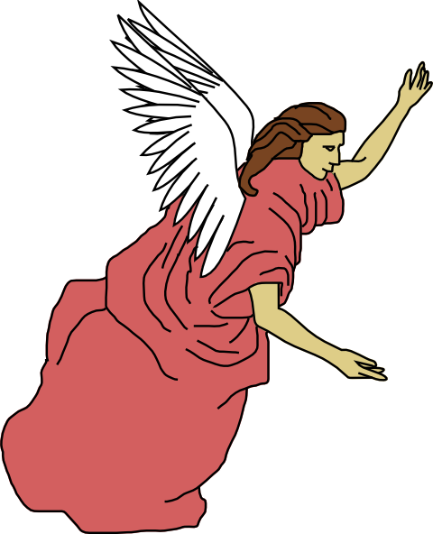 480x592 Flying Angel Clip Art