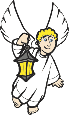 241x400 Image Angel With Lantern Angel Clip Art