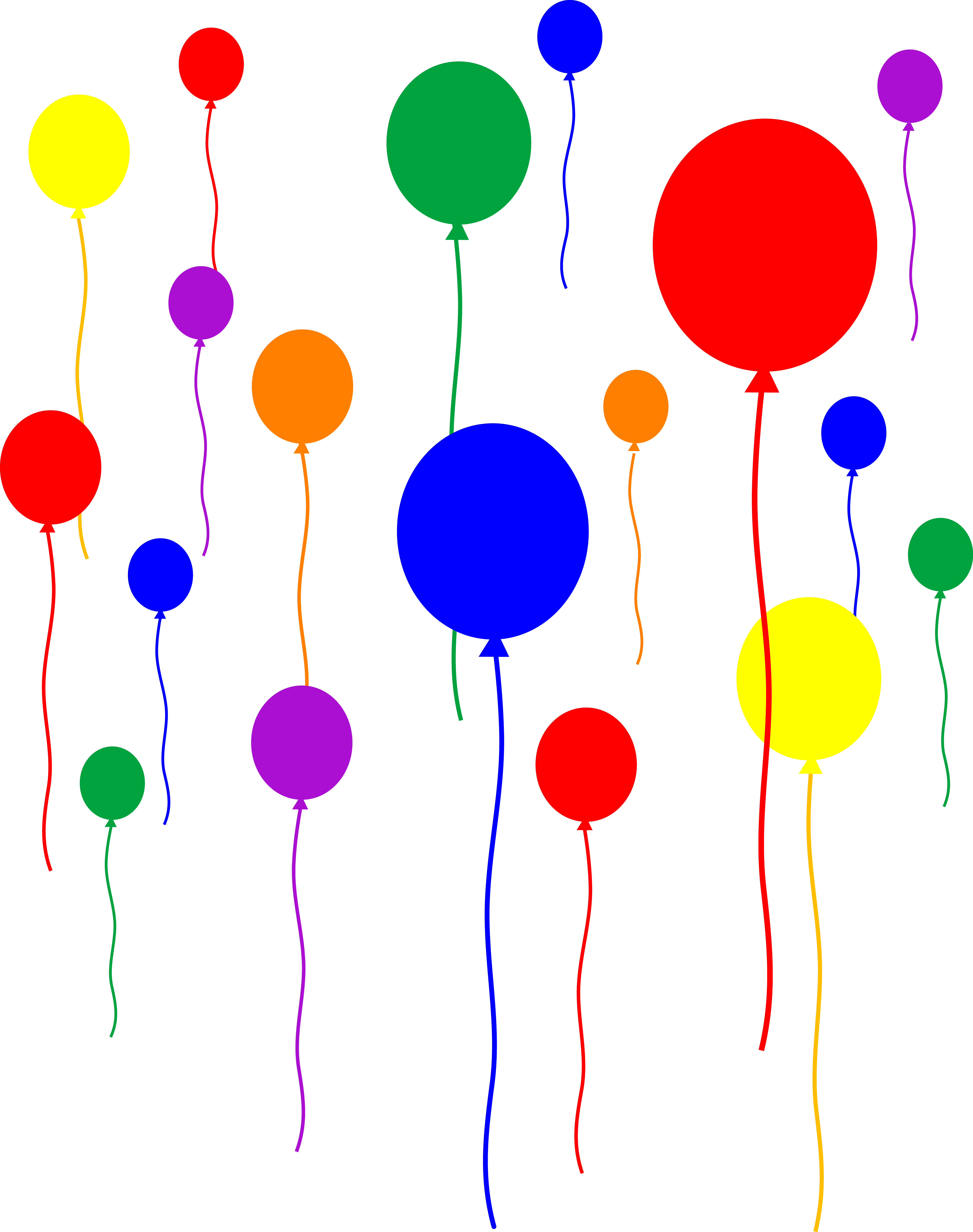 5847x7402 Party Balloons On Transparent Background