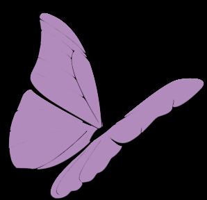 298x288 Purple Butterfly Clip Art