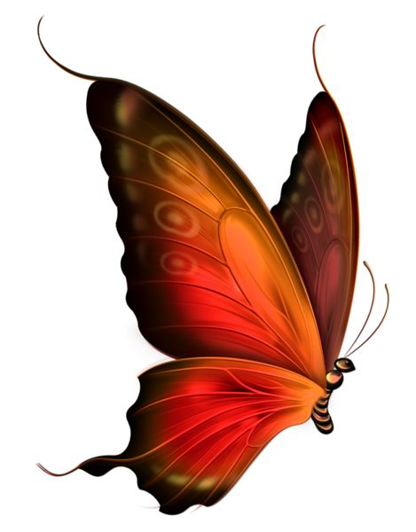 469x600 Red And Brown Transparent Butterfly Clipart Art