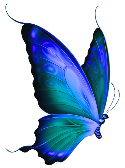 433x584 Transparent Blue And Green Deco Butterfly Clipartu200b Gallery