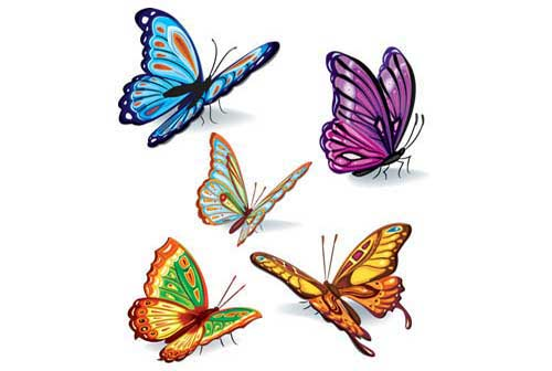 500x336 Butterfly Clip Art 56 Vector Graphics For Nature And Spring Designs