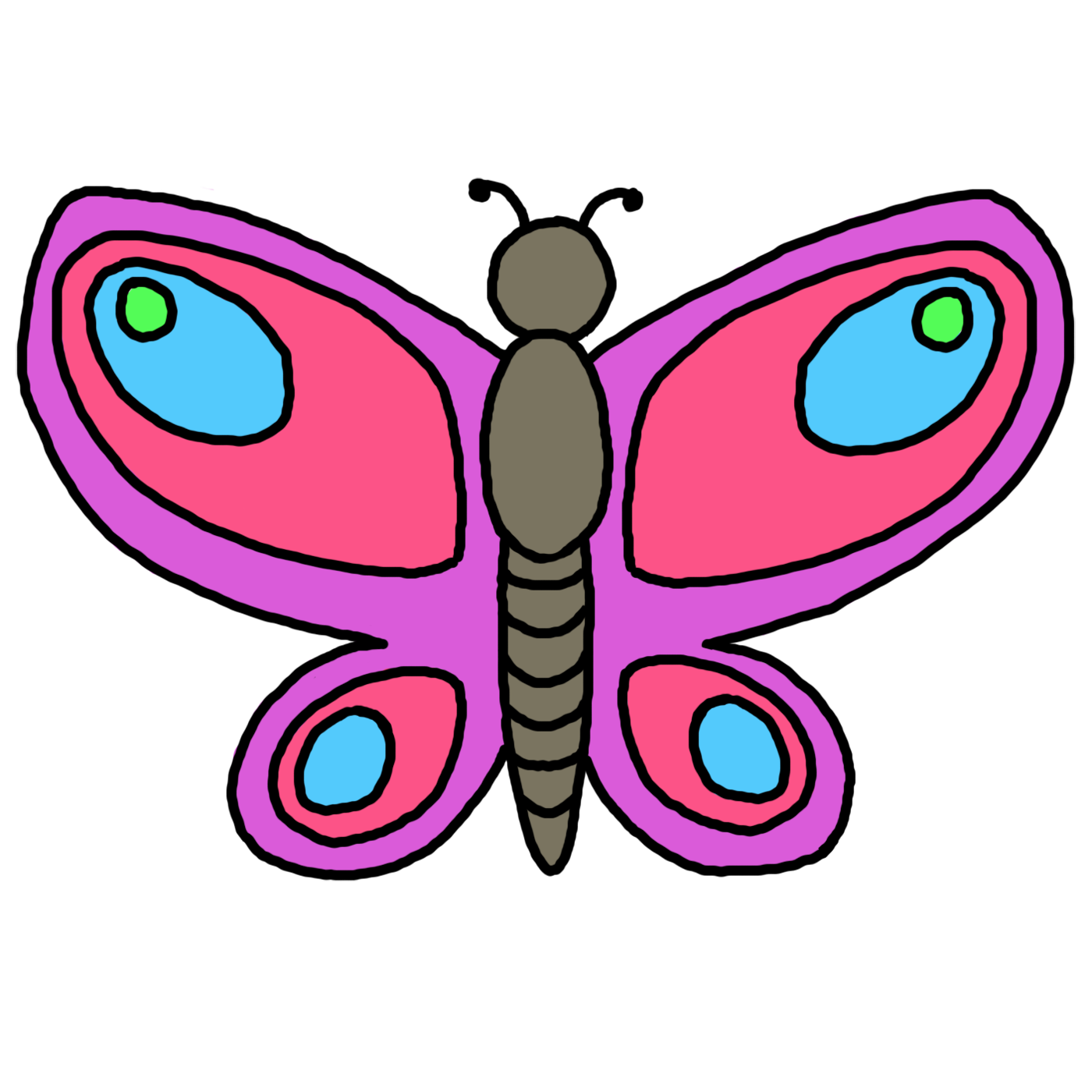 1400x1400 Butterfly Clipart