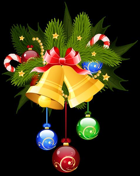 478x600 Christmas Bells And Ornaments Transparent Png Clip Art Image