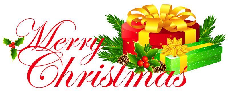 800x320 Transparent Merry Christmas Clipart