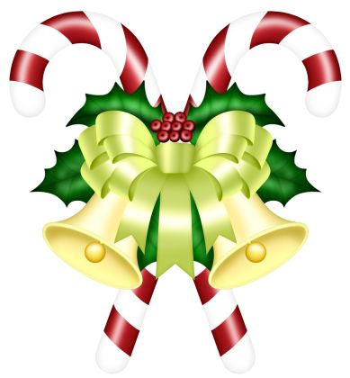389x420 162 Best Christmas Red Bow And Bells Corner Transparent Png Clip