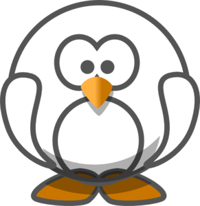 291x300 Transparent White Penguin Clip Art