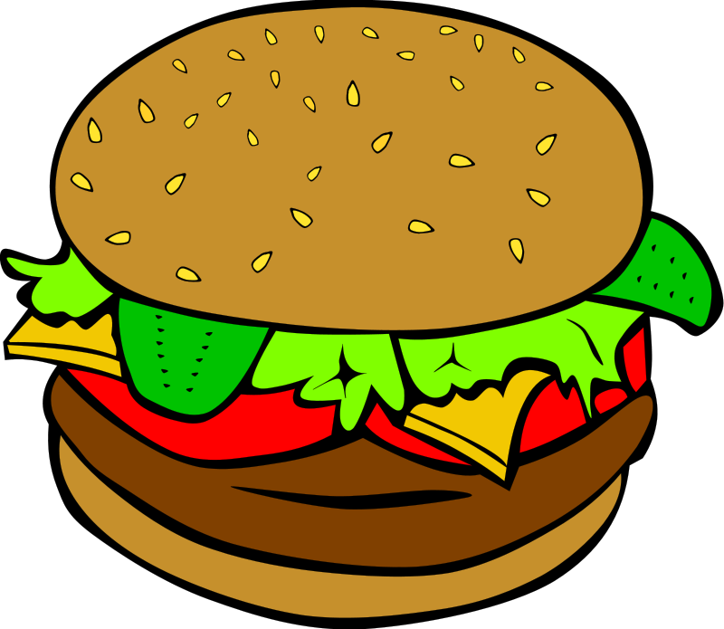 800x695 Burger Clipart Transparent Food
