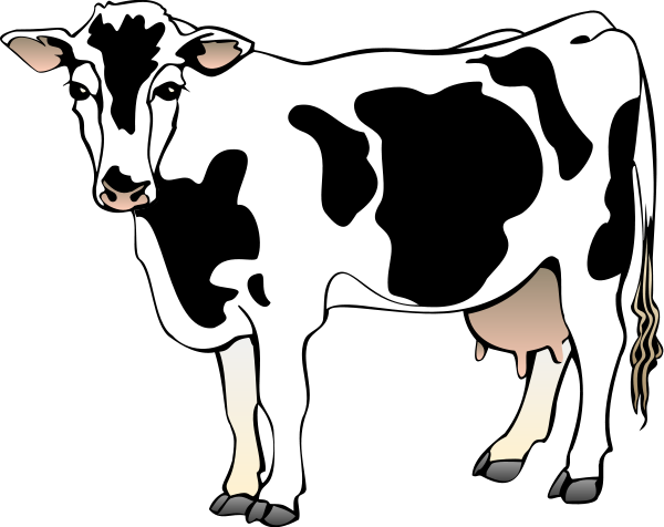 600x476 Cow Clip Art Free Black And White Clipart