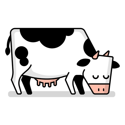 512x512 Cow Grazing Cartoon