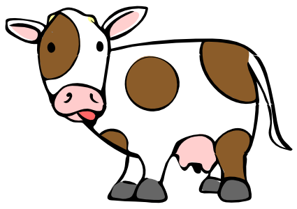 425x300 Awesome And Beautiful Cow Clipart With Transparent Background