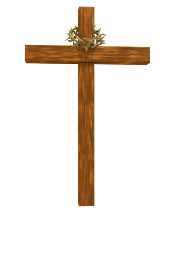 344x500 Crown Of Thorns And Cross With Transparent Background Clipart