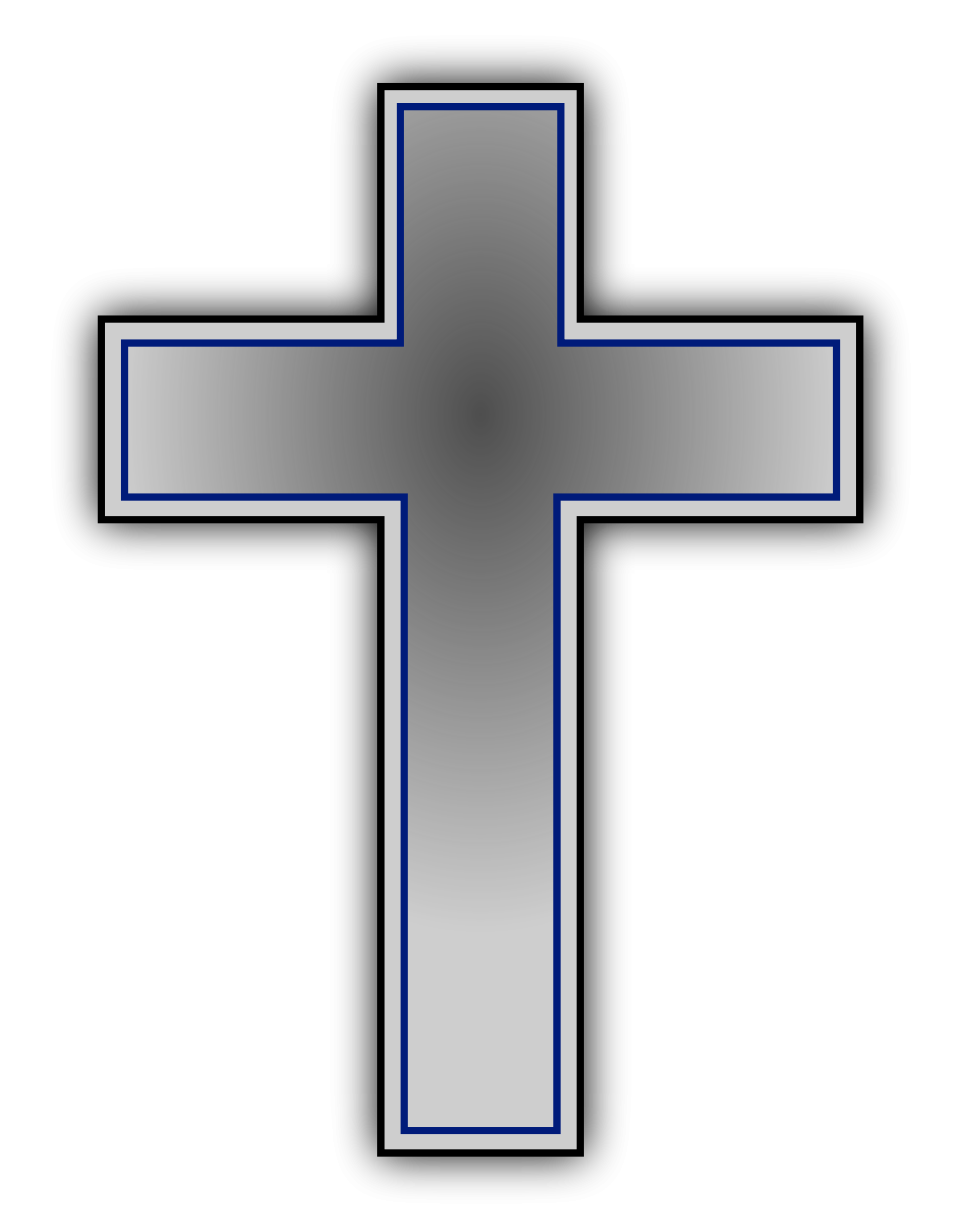 1872x2400 Free Cross Black And White Clipart