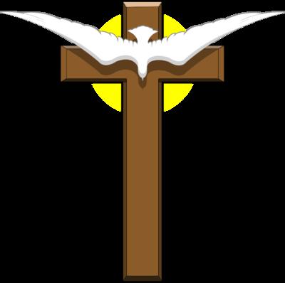 400x398 Image Dove Over Cross Cross Image