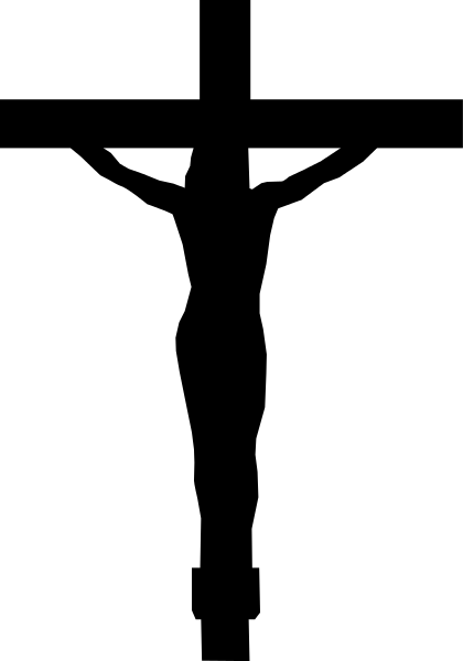 420x600 Christ With Cross Silhouette Transparent Png