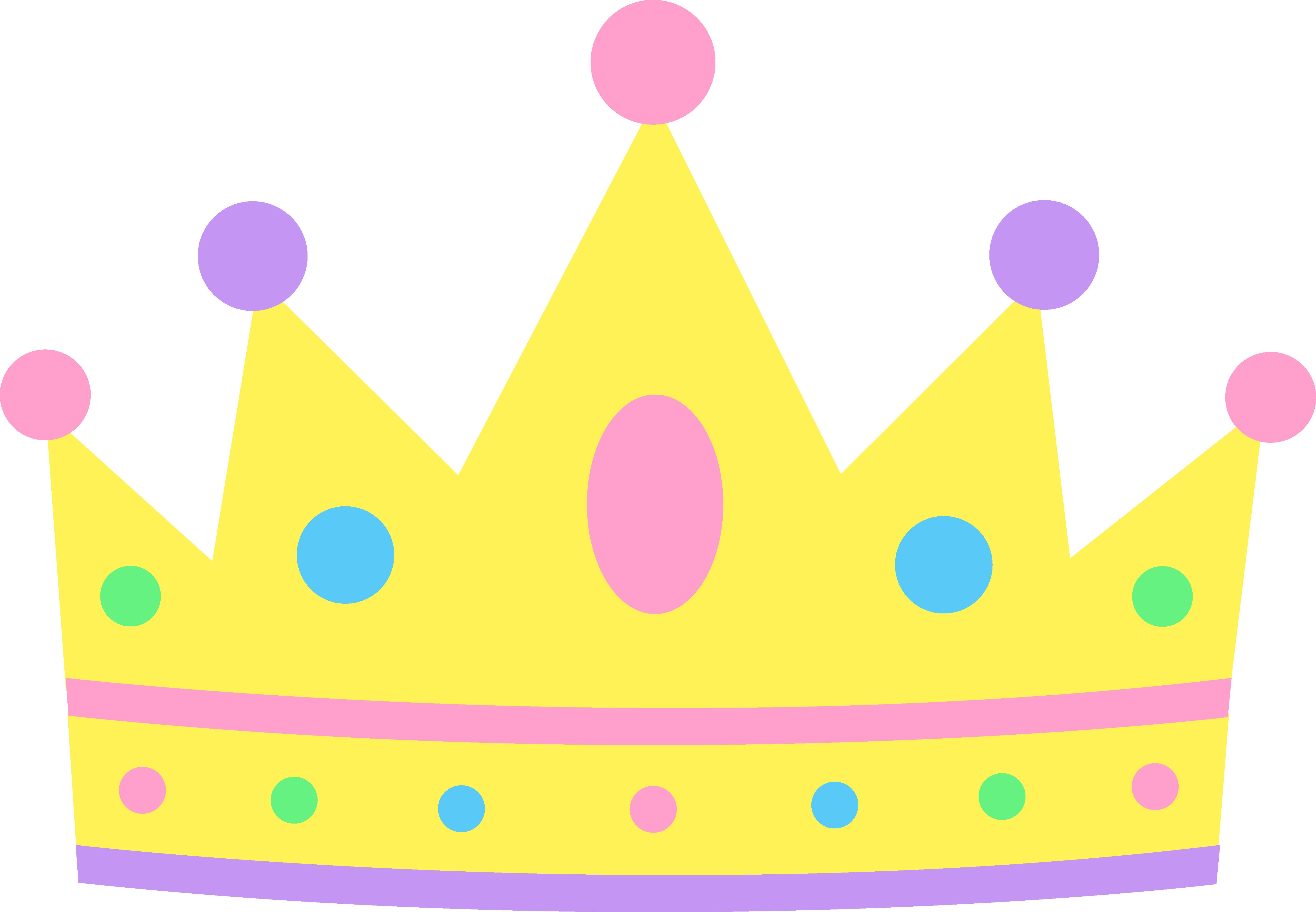 5662x3928 Cute Pastel Princess Crown Clipart