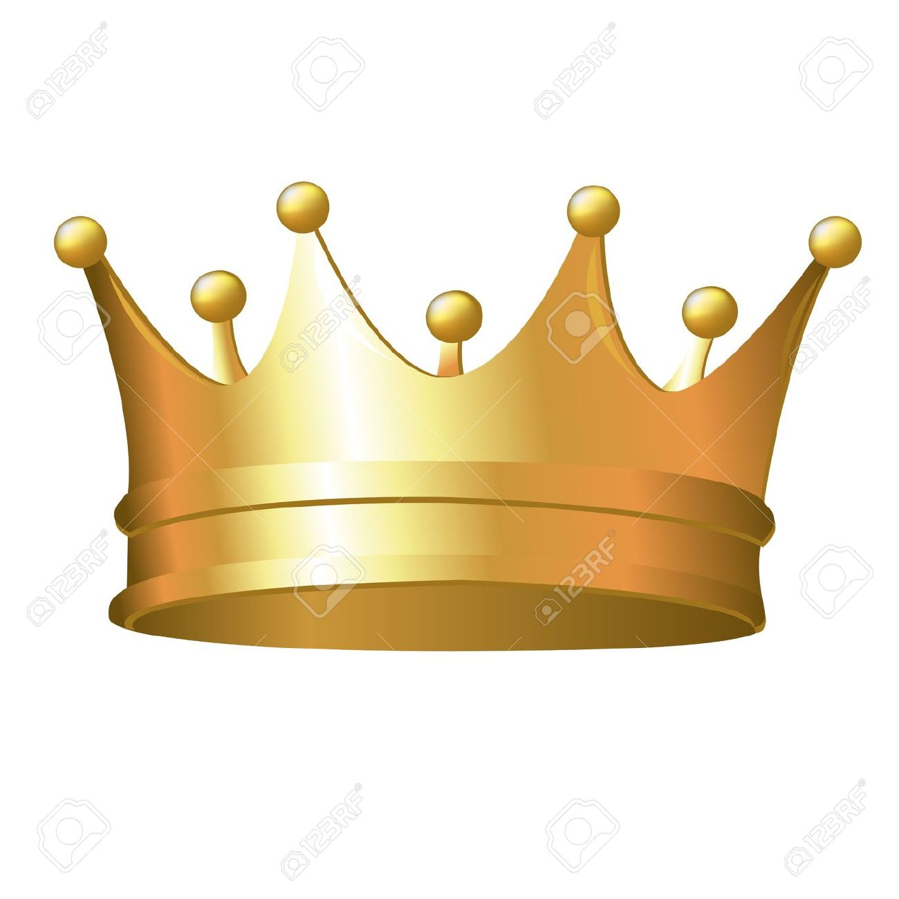 1300x1300 Gold Crown Clipart Transparent Background