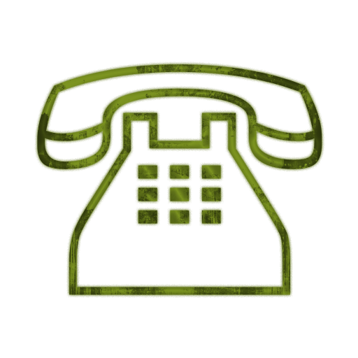 512x512 Traditional Clear Telephone (Phone) Icon