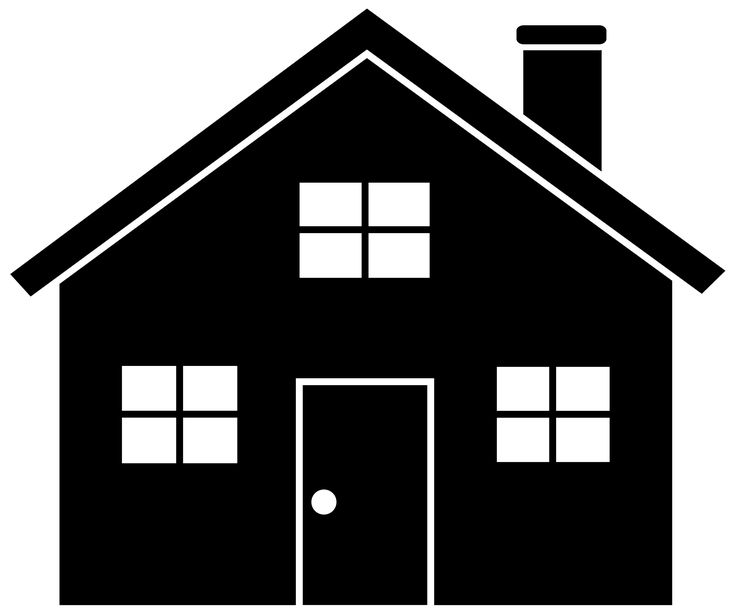 736x612 House Clipart Black And White Png
