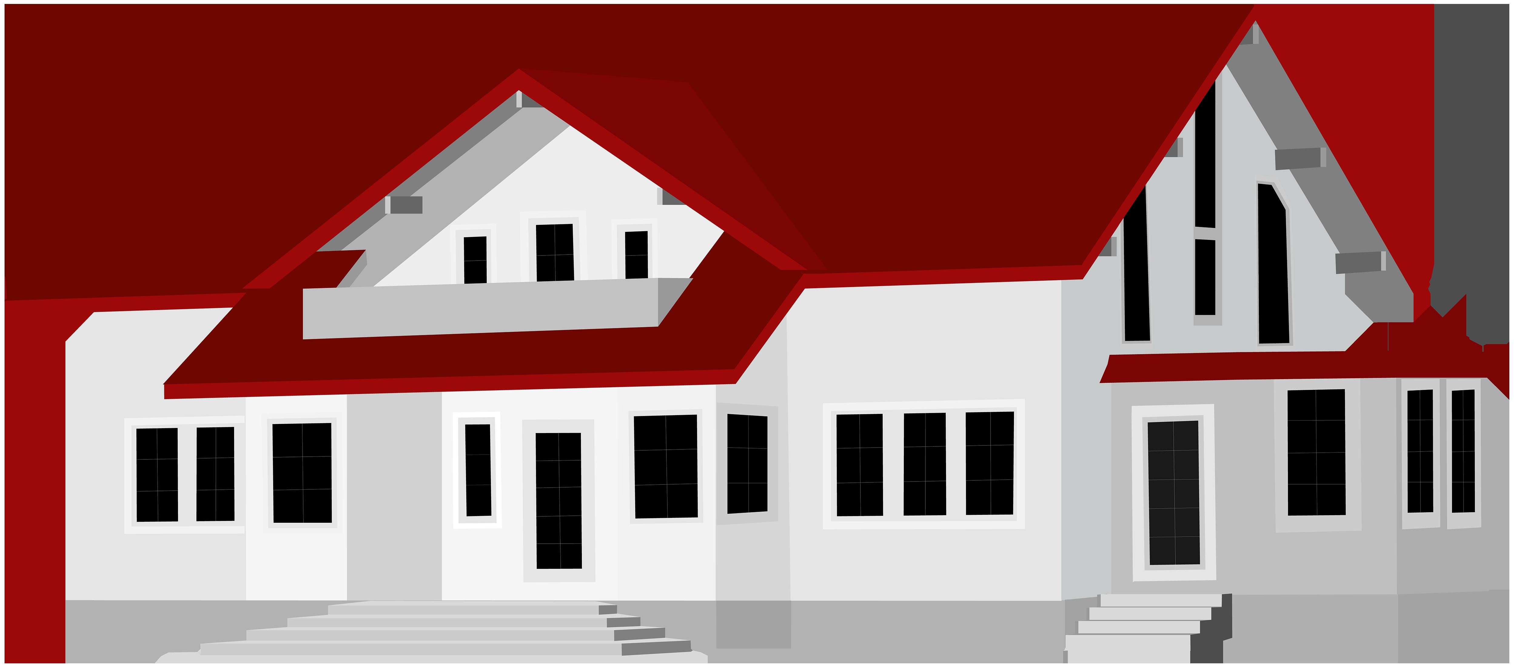 5000x2211 Large House Png Clip Art