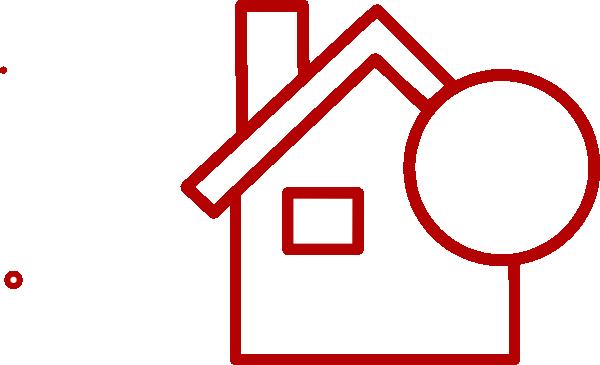 600x365 Red House Square Transparent Clip Art