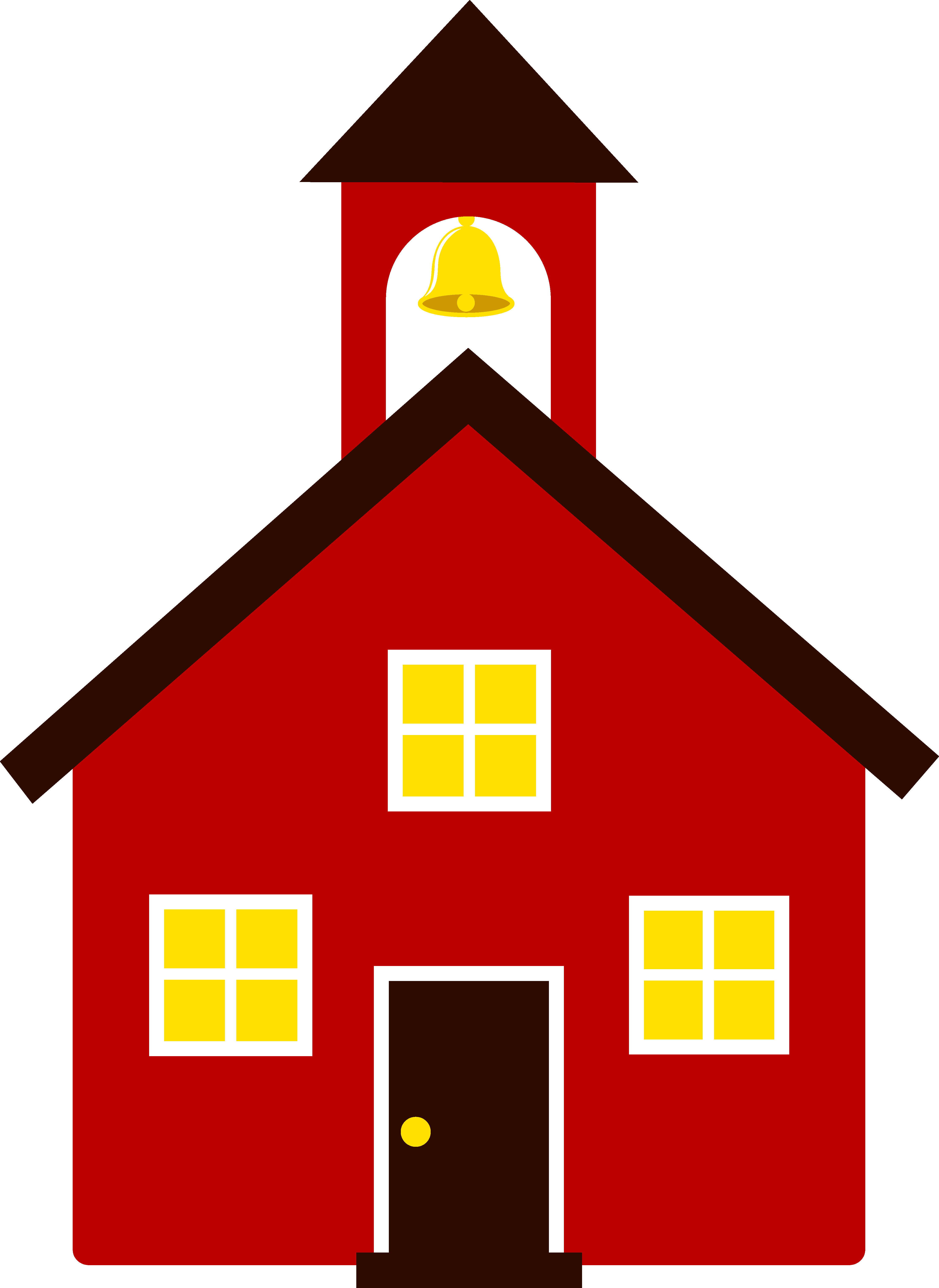 4446x6100 School House Clip Art Black And White Free