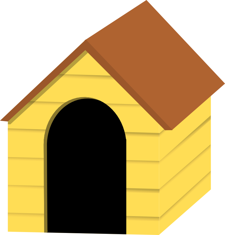 766x800 Yellow Dog House Clipart