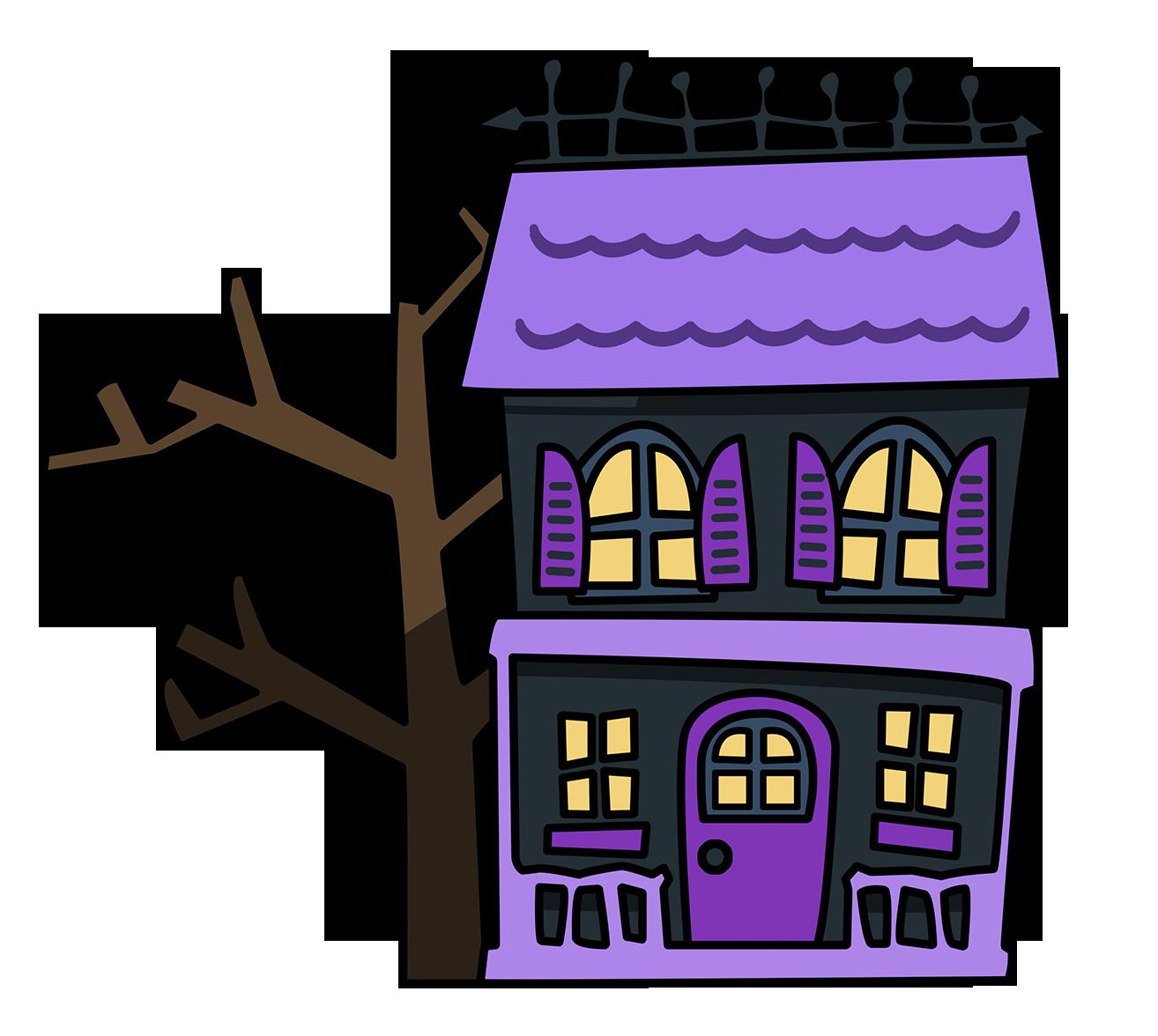 1314x1176 Free Cartoon Haunted House Clip Art