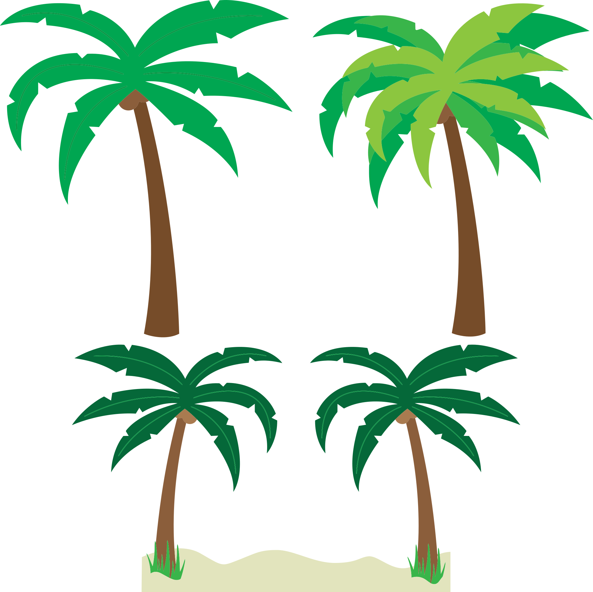 2000x1995 Free Cartoon Palm Trees Clipart And Vector Image
