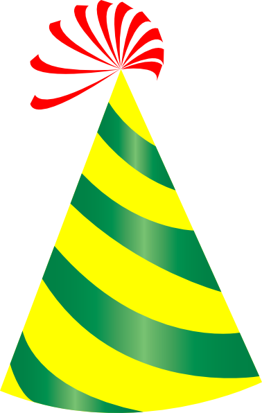 378x596 Birthday Hat Party Clipart Transparent Background