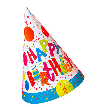 360x360 Happy Birthday Party Hat Clipart