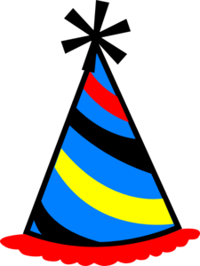 225x300 Party Hat Blue, Red Amp Yellow Clip Art