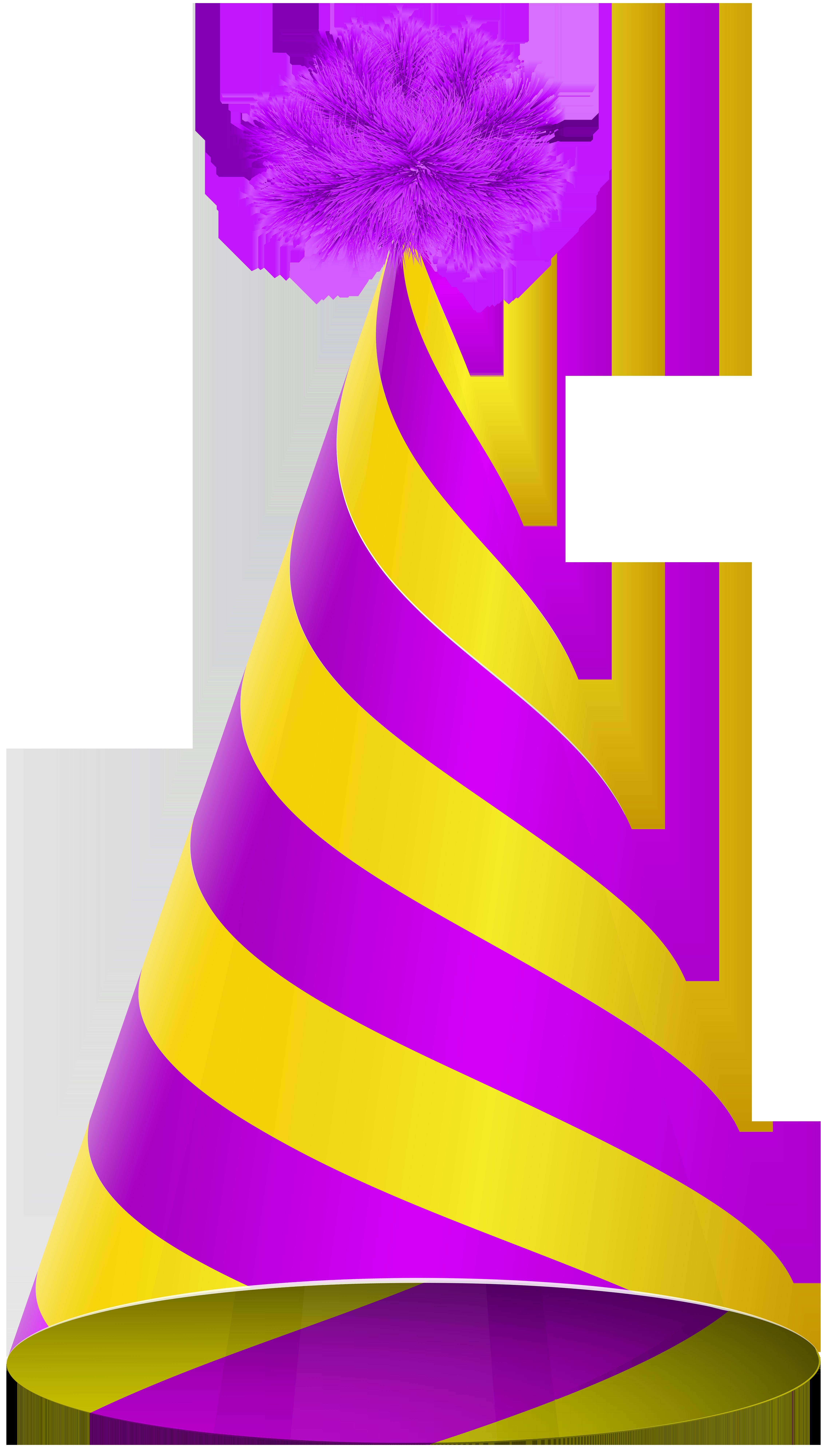 4533x8000 Party Hat Purple Yellow Transparent Png Clip Art Imageu200b Gallery