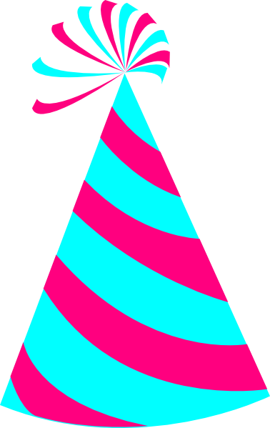 378x599 Pink And Blue Party Hat Clip Art