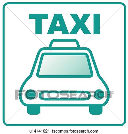450x470 Clipart Of Land Transportation, Icons, Transportation, Taxi
