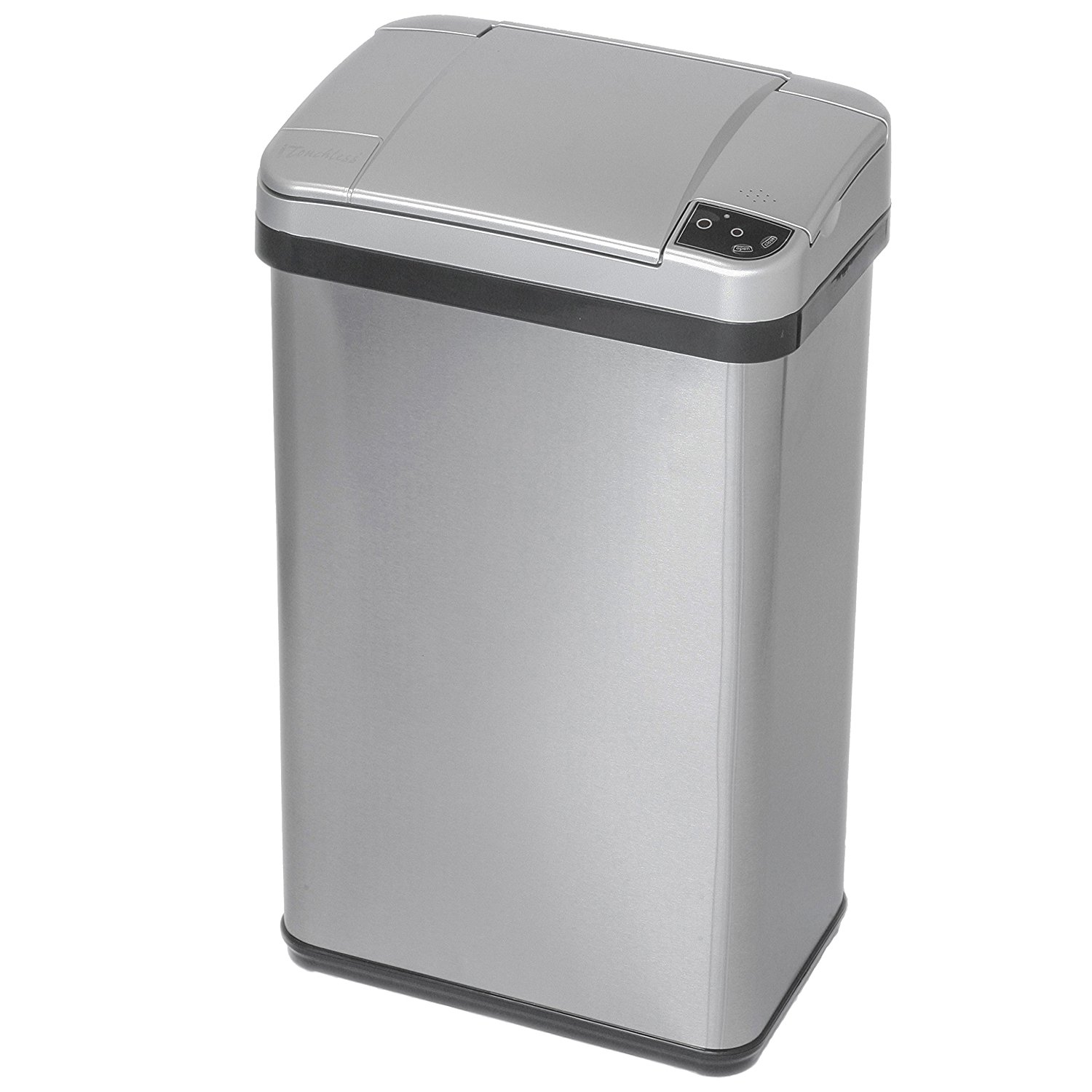 1500x1500 Itouchless Stainless Steel Trash Can, Touchless Sensor