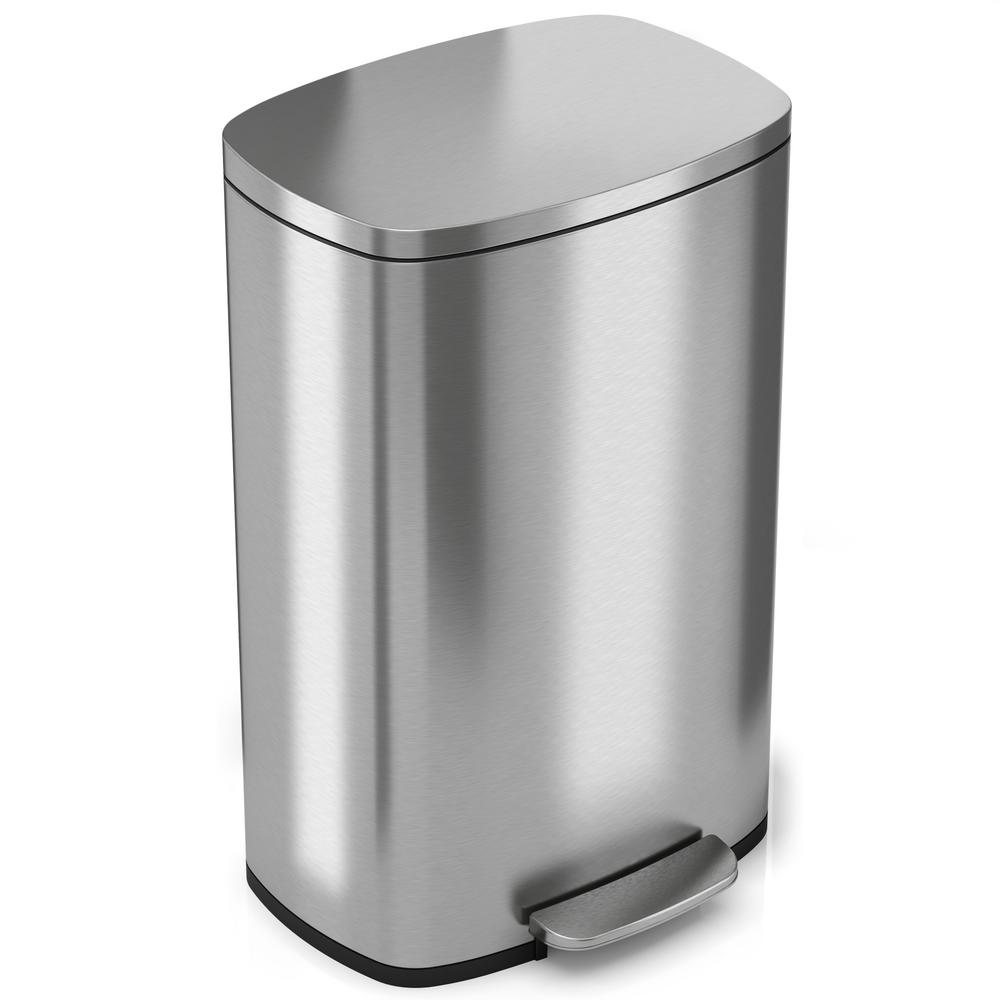 1000x1000 Itouchless Softstep 13.2 Gal. Stainless Steel Step Kitchen Trash