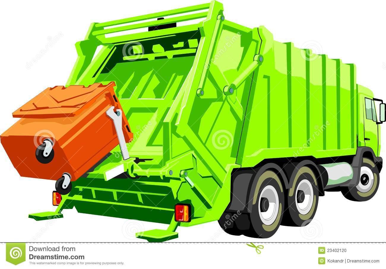 1300x905 Trash Truck Clipart
