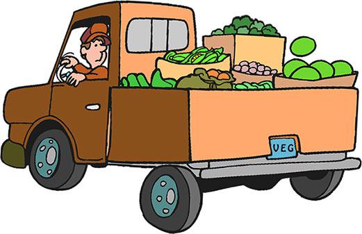 521x337 Cartoon Truck Clipart