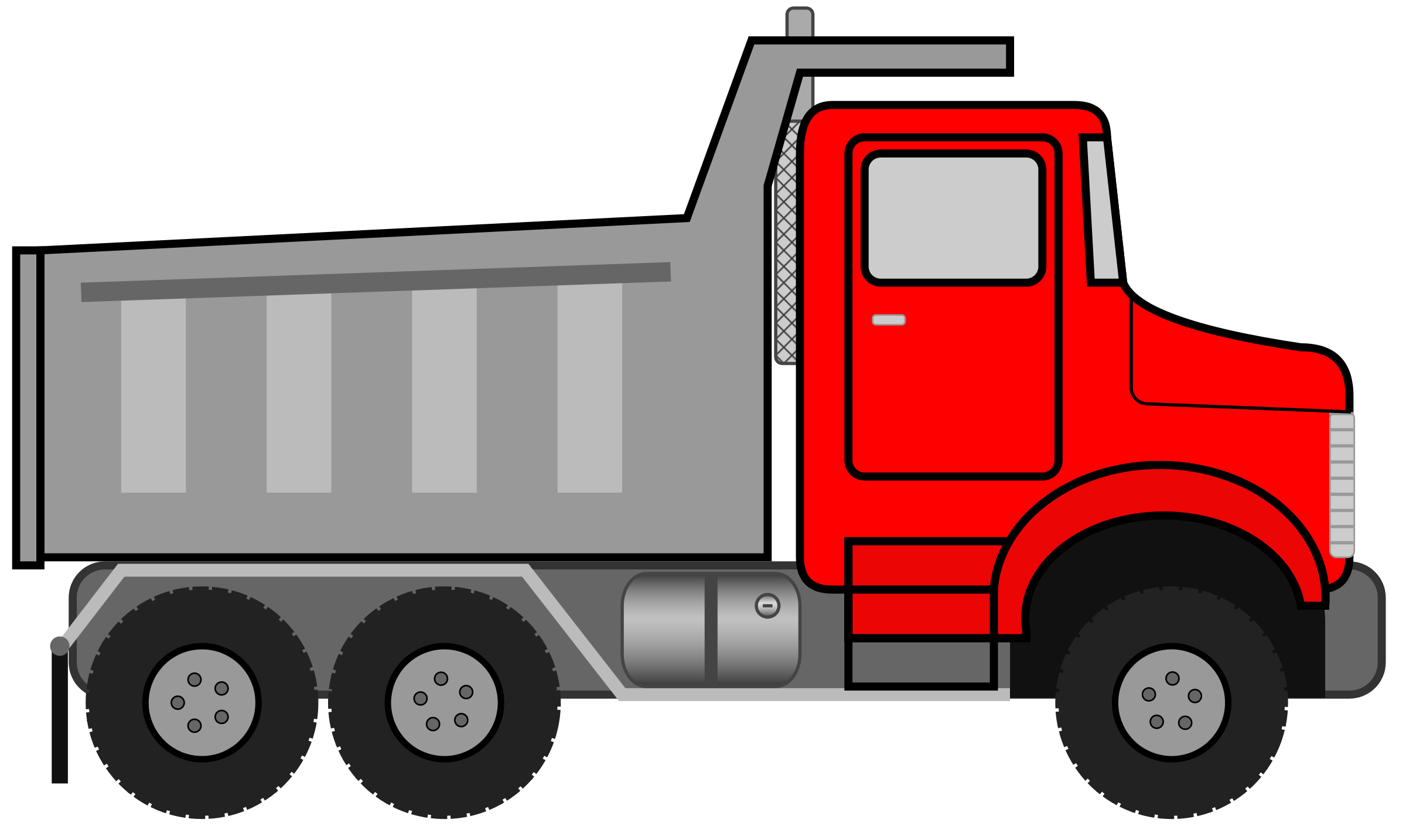 2400x1434 Truck Black And White Dump Truck Clipart Black And White Free 12