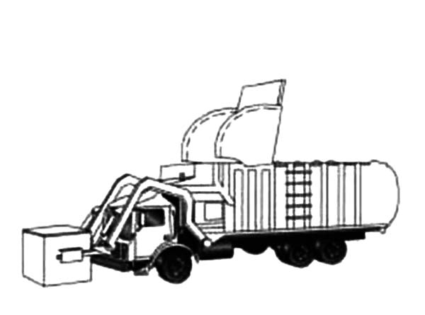 600x445 Drawing Garbage Truck Coloring Pages Drawing Garbage Truck