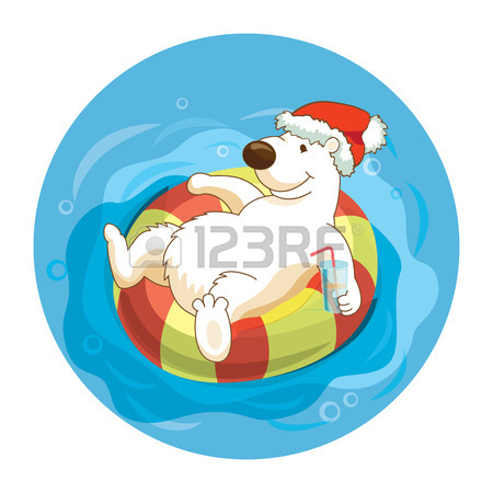 450x450 134 Polar Bear Swimming Stock Illustrations, Cliparts And Royalty