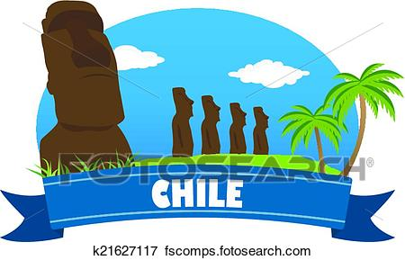 450x289 Clip Art Of Chile. Tourism And Travel K21627117