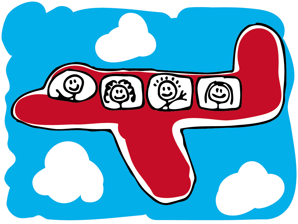 1200x900 Free Airplane Travel Clipart Image