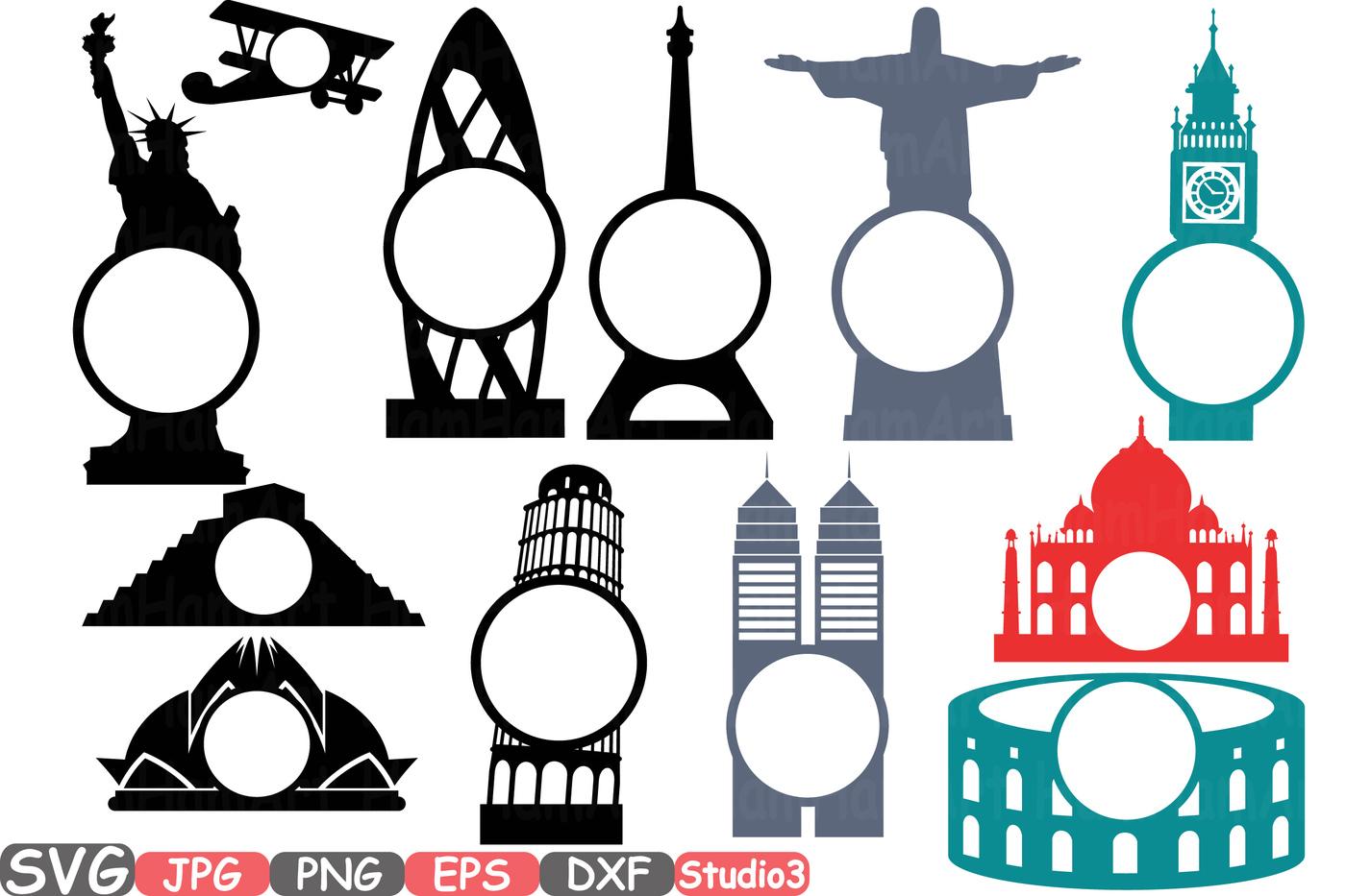1400x933 World Buildings Landmarks Svg Silhouette Travel City Cutting Files