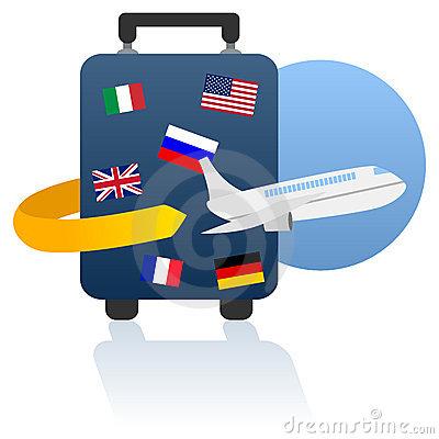 400x400 World Travel Logo Royalty Free