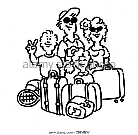 552x540 Family Holiday Airport Black And White Stock Photos Amp Images